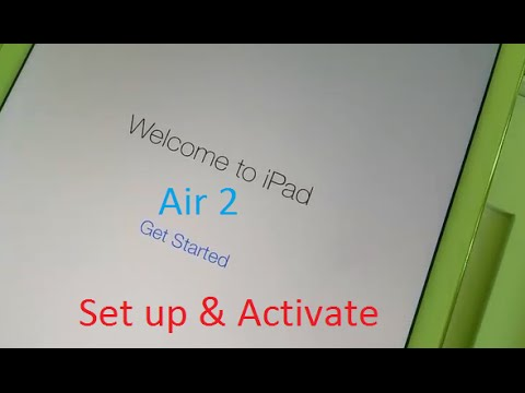 How to Set Up as New iPad: Activate iPad Air 2 for the first time using Apple ID