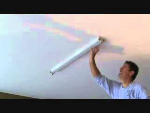How to install a surface mounted fluorescent light fixture...Part 1