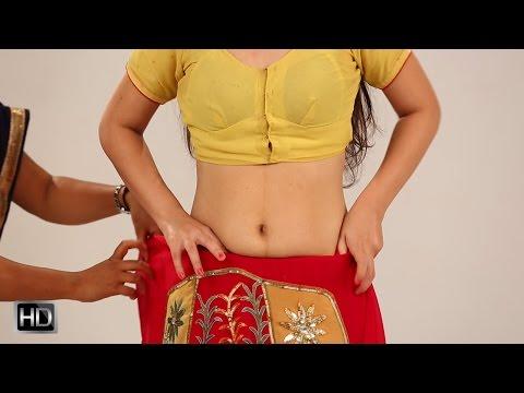 How to Wear Lehenga Style Saree - Lehenga Style Sari Draping