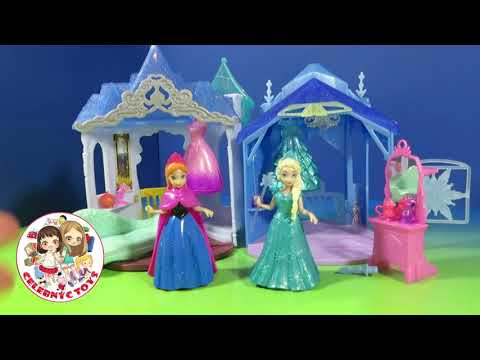 New Disney Magiclip Frozen Flip N' Swtich Castle Anna and Elsa of Arendelle