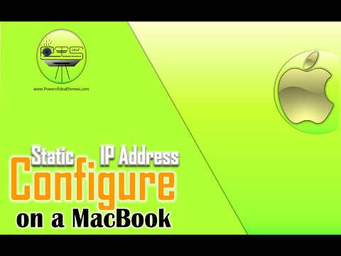 Assign Static IP Address to Wifi on MacBook