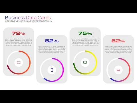 How To Create Ready To Use Elegant Business Data Card Widget in Microsoft Office PowerPoint PPT