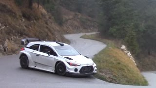 Test day 11 2016 before Rallye Monte Carlo 2017 Hyundai WRC I20 WRC Thierry Neuville by Ouhla lui