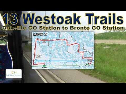 13 Westoak Trails - Oakville Transit Nova Bus LFS 1403 (Oakville GO Station to Bronte GO Station)