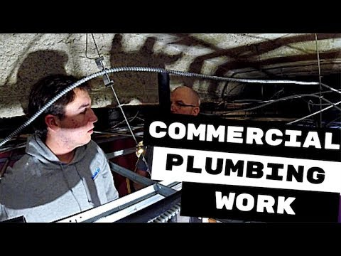 PLUMBING APPRENTICES FIRST LARGE COMMERCIAL PLUMBING JOB
