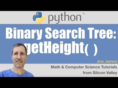 Python: Get Height of a Binary Search Tree