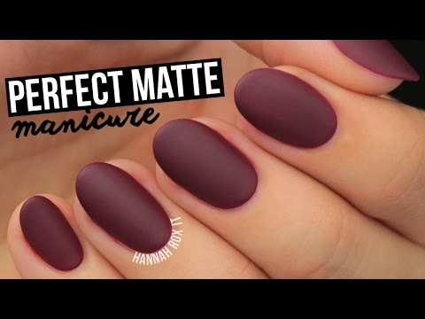 How To Get The Perfect Matte Mani!