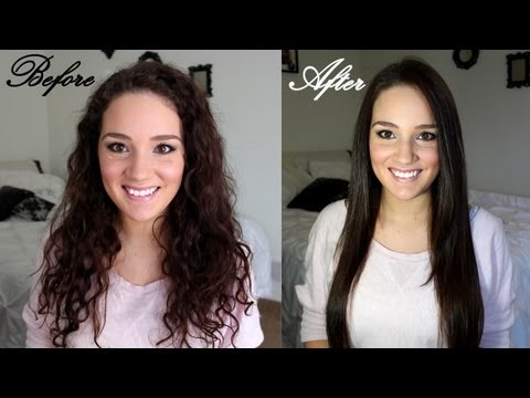 How to Straighten Curly Hair & Maintain It