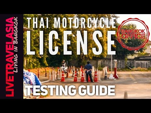 How to Pass Thai Driver's License Tests in English for Motorcycle / Car (Written / Driving)
