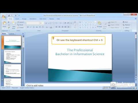 How to save a PowerPoint 2007 presentation?
