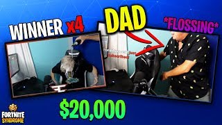 TFUE CELEBRATES WITH DAD AFTER WINNING FRIDAY FORTNITE FOURTH TIME! - Fortnite Moments #127
