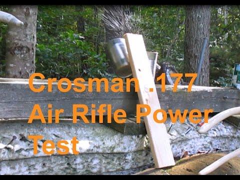 Crosman Air Rifle .177 caliber Power Test