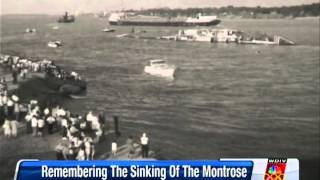 Montrose sinks on Detroit River