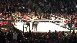 WWE Title Triple Threat Match Entrances WWE Live Bossier City 1/7/17