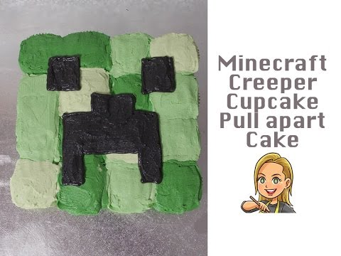 Minecraft Creeper Pull Apart Cupcake Cake