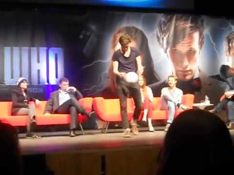 Matt Smith Shows Off Football Skills   Doctor Who Convention