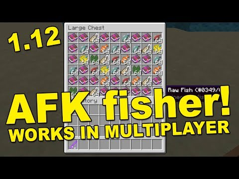 AFK FISHING FARM - 1.12 SERVERS - Tutorial - Unlimited items - MINECRAFT (WORKING)