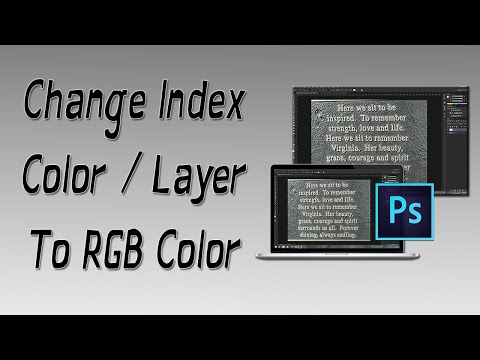 How To Change Index Color / Layer To RGB Color (Adobe Photoshop CC, CS6, CS5, CS4, etc..)