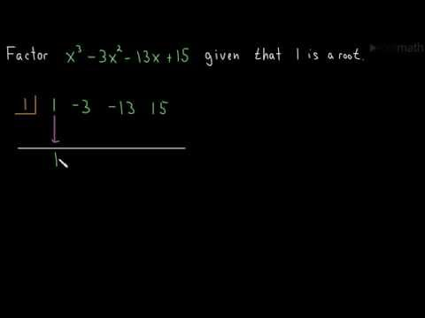Factoring a Cubic Polynomial (Synthetic Division 01)