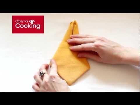 Bunny napkin folding | CrazyForCooking.com