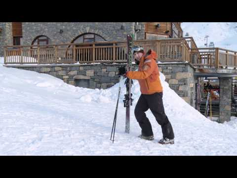 How To Walk On Snow - Beginner Ski Lesson