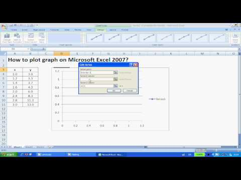 Plotting Graphs on Excel 2007