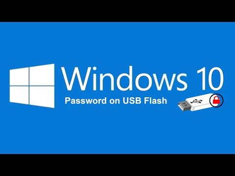 How to put password on usb flash by BitLocker of windows 10