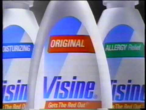 Visine Eye Drops Commercial Gets the Red Out (1996)