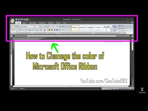 How to Change Color of The Microsoft Office Ribbon