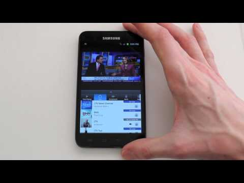 Preview of Bell TV on-demand streaming app for Android