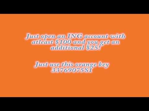 ING orange key, Free money!!