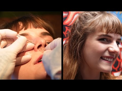 People Get Facial Piercings For The First Time