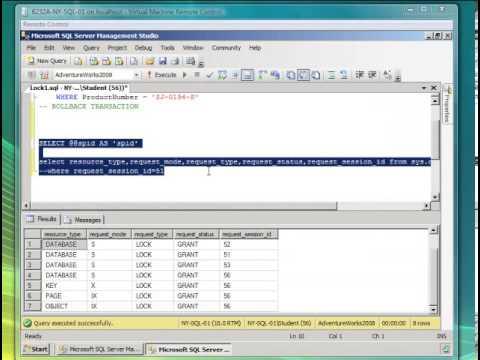 Monitor de actividad de sql server