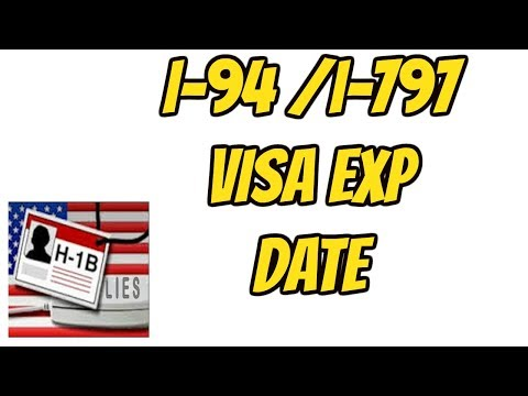 I-94, i-797 and Visa expiry date- H-1B- Important dates