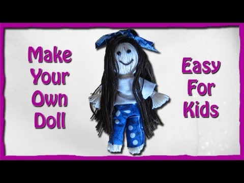 How To Make A String Doll - An Easy Tutorial For Kids