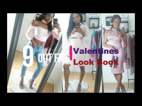 Valentine's Lookbook 2018   Fashion haul : PRETTY LITTLE THING, FASHIONNOVA & BOOHOO