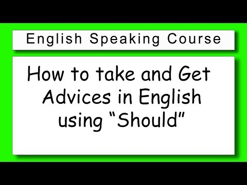इंग्लिश में सलाह कैसे ले | How to take & Give Advice in English Simple Easy Learning