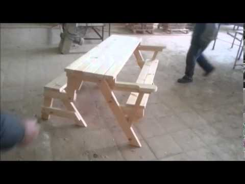 Folding Bench Picnic Table