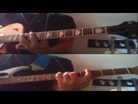 The Beatles - I Want To Hold Your Hand Lead/Rhythm Guitar Tutorial & Cover With Tabs Equalized