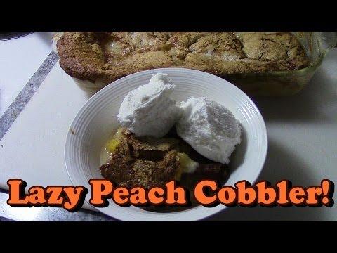 Lazy Peach Cobbler!!