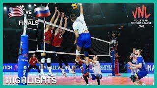 Russia Vs USA Highlights 14 Jul Finals Men39s VNL 2019
