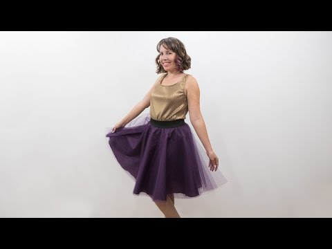 How to Sew a Tulle Skirt - Pattern and Assembly