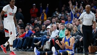 Steph Curry DRAINS Three-Pointer Without Looking vs Trail Blazers