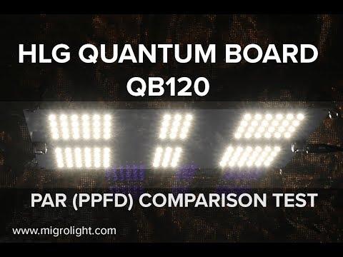 HLG QUANTUM BOARD QB120 PAR TEST AND COMPARISON