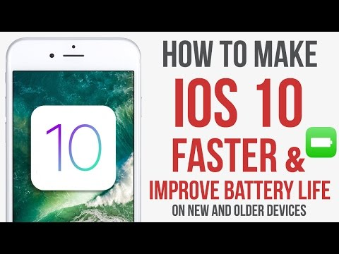 Make IOS 10 Faster & Improve Battery life / Performance & Battery Tips