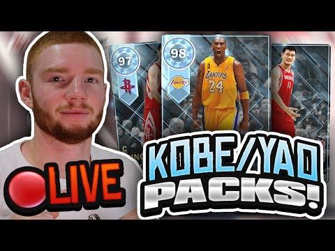 *LIVE* DIAMOND KOBE & YAO HUGE PACK OPENING! THROWBACK PLAYOFF MOMENTS PACKS (NBA 2K18 MYTEAM)