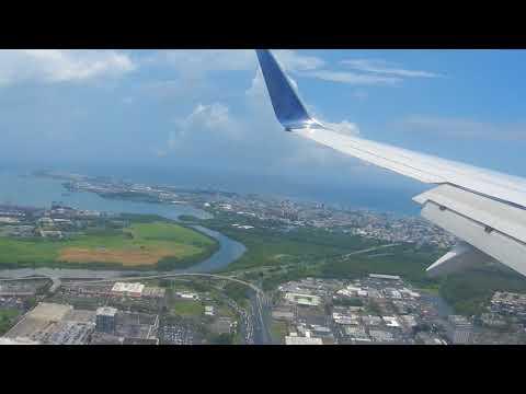 Delta 737-900 ER Landing In SJU (San Juan PR) From JFK