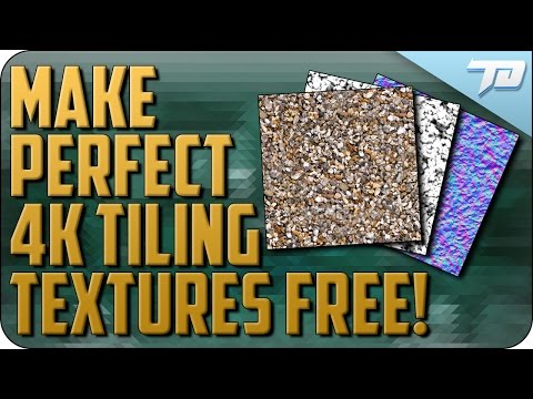 Create Seamless Tiling Texture Maps Free   Bitmap to Material Tutorial