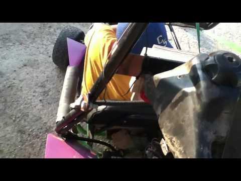 Gokart with dirtbike motor first run