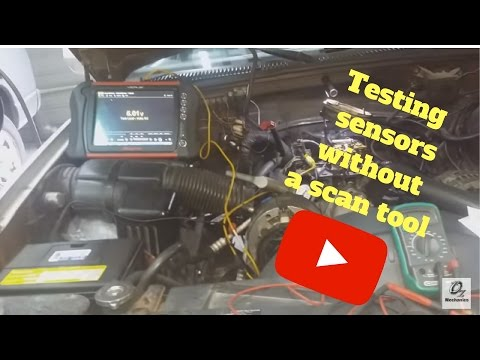How to test sensors without a scan tool. TBI system